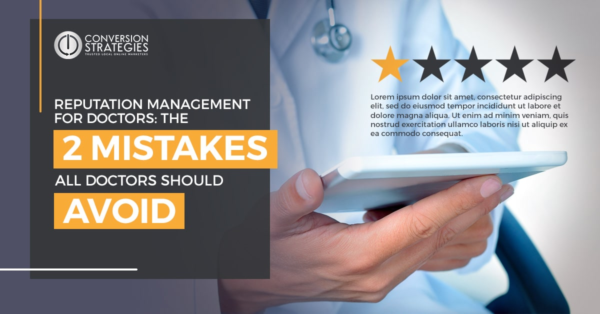 Reputation management for doctors - mistakes to avoid - 8 bad yelp reviews