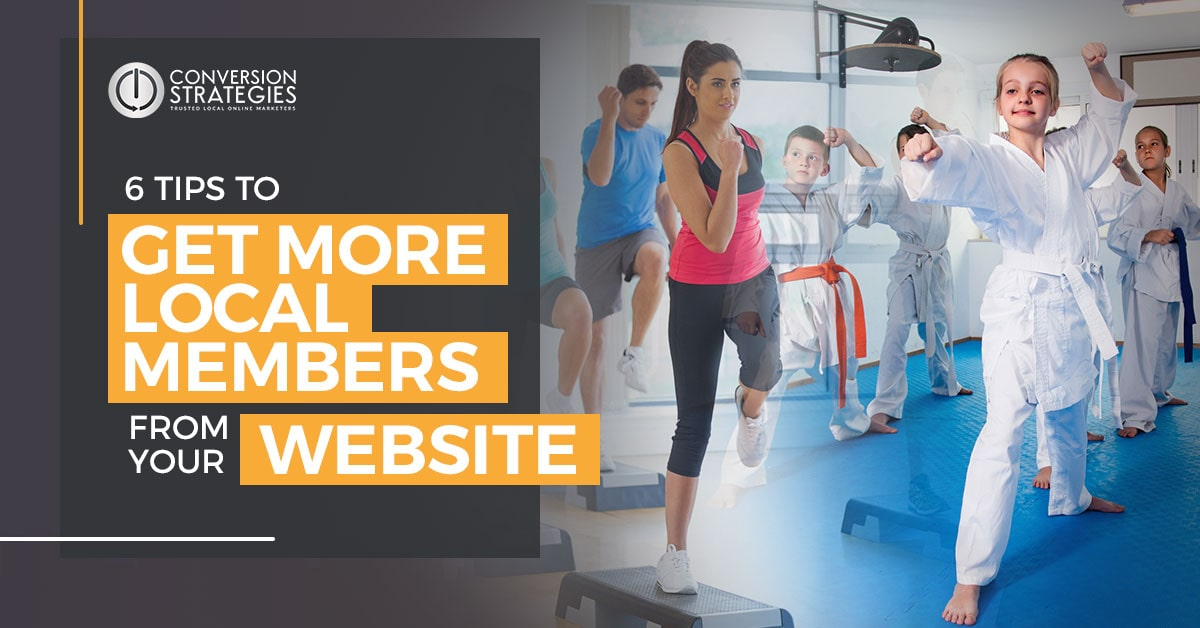 get more local members from your website