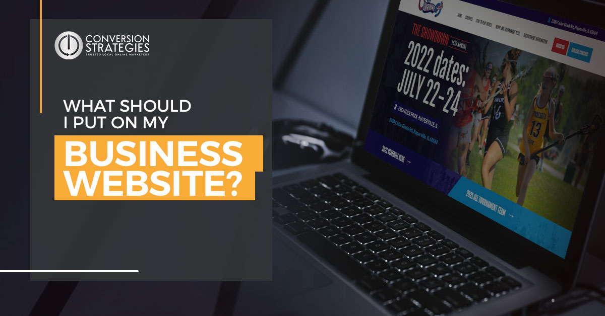 what do i put on my business website?