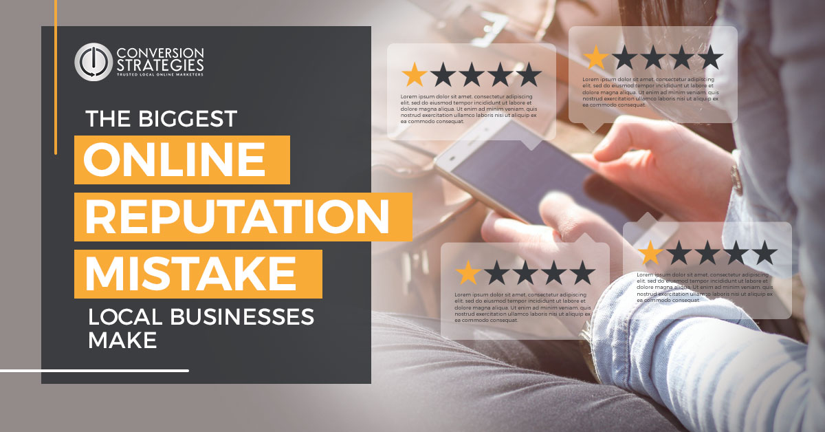 the biggest online reputation mistake small business make
